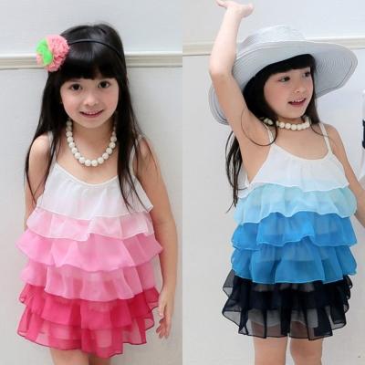 baby童衣 洋裝 女童雪紡漸層蛋糕裙 42157