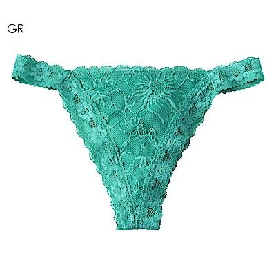 aimerfeel 性感緞帶蕾絲丁字褲-綠色