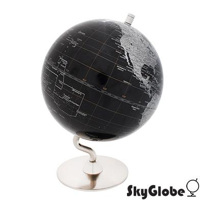 SkyGlobe 8吋黑色金屬底座地球儀(英文版)