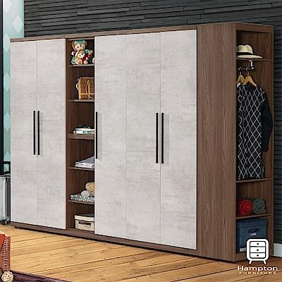 漢妮Hampton西蒙系列 9 . 2 尺組合衣櫥- 280 x 57 x 202 cm