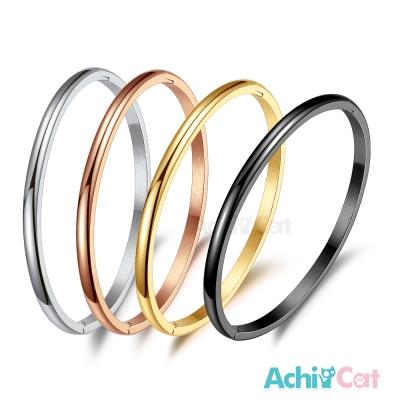 AchiCat 鋼手環 白鋼手環 時尚簡約