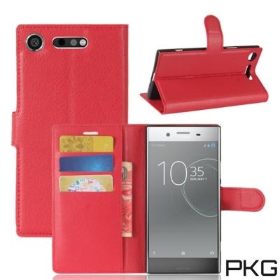 PKG SONY XZ1 側翻式皮套-經典皮套系列-紅