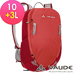 【ATUNAS 歐都納】德國VAUDE-10+3L網架透氣休閒背包VA-11940紅15