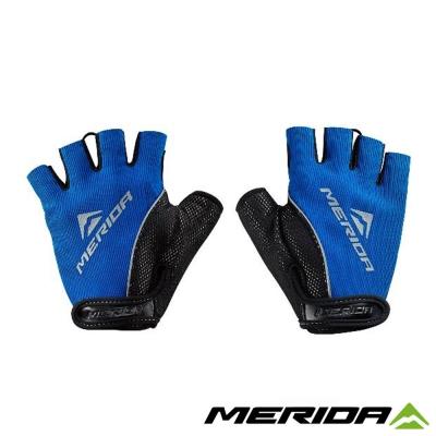 《MERIDA 》美利達吸震襯墊短指手套-黑藍