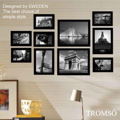 TROMSO風格黑爵相框牆10框組-法國黑
