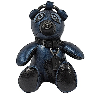 COACH BEAR 熊熊造型鑰匙圈(金屬藍)