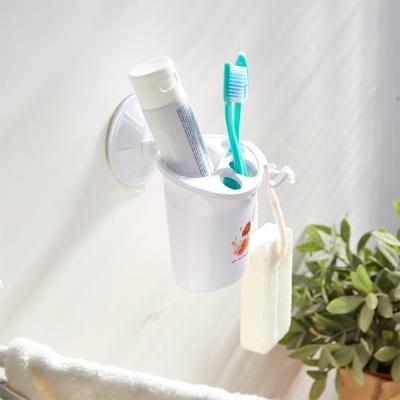 H&R安室家 無痕吸盤系列-牙刷牙膏置物架(2入) BRF16