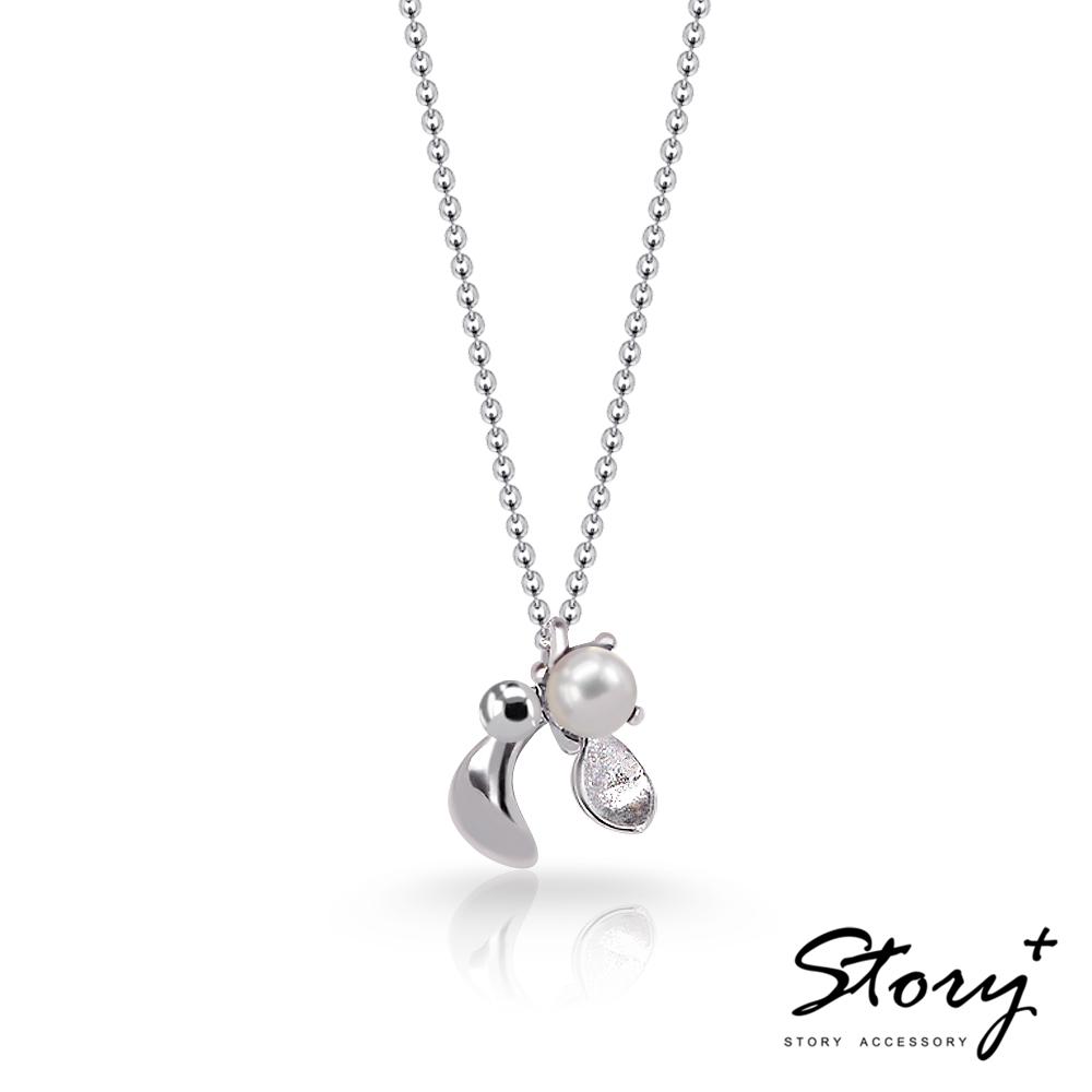 STORY故事銀飾-SNOW系列-Mistletoe槲寄生天然珍珠項鍊