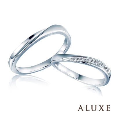A-LUXE 亞立詩 Happiness 結婚戒 18K金男女對戒