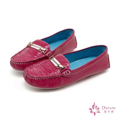 達芙妮DAPHNE-個性之春百搭休閒便鞋-莓果紅