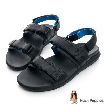 Hush Puppies ACTUALLY 超輕量減壓運動涼鞋-黑色