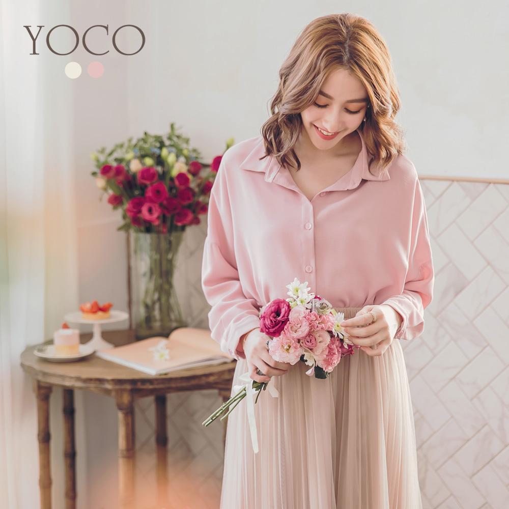 東京著衣 春氛自然輕柔純色兩件式蕾絲背心襯衫-S.M.L(共二色)