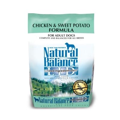 Natural Balance 低敏無穀 地瓜雞肉 全犬 乾糧(原顆粒)4.<b>5</b>磅 x 1包