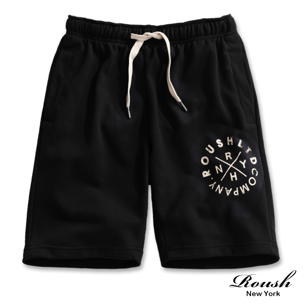Roush 美式圓形印花棉質短褲(3色)
