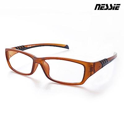 Nessie尼斯眼鏡 濾藍光眼鏡 側遮罩 消光茶