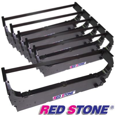 RED STONE for OMRON 3M2GS-ATM黑色色帶組【雙包裝】×3盒(1盒2入)