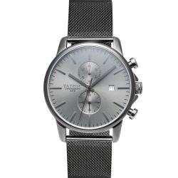 TAYROC英式簡約時尚米蘭帶計時手錶-灰/43mm