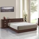 群居空間 夏洛特5尺雙人床組-三件式(床頭箱+床底+床頭櫃)-三色可選