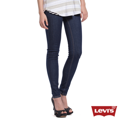 Levis 女款 710 中腰超緊身窄管 超彈力牛仔長褲 原色輕磅
