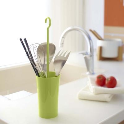 【YAMAZAKI】現代鄉村可掛式廚具瀝水籃-綠★餐具收納/廚房用品/瀝水架