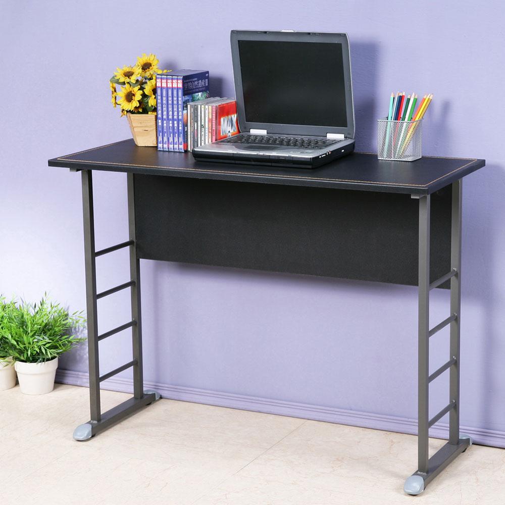 Homelike 查理100x40工作桌-仿馬鞍皮