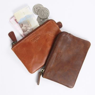 CALTAN-女用真牛皮夾-皮件-零錢包-信用卡