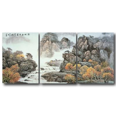 橙品油畫布- 三聯無框圖畫藝術家飾品 - 調和40*40cm