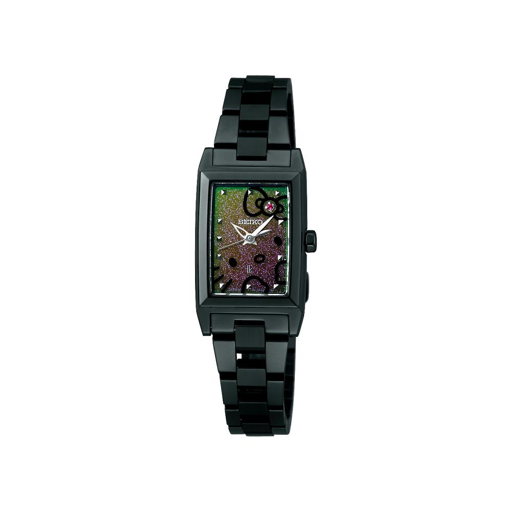 SEIKO LUKIA 幸福星空 凱蒂貓限量腕錶-IP黑/17mm