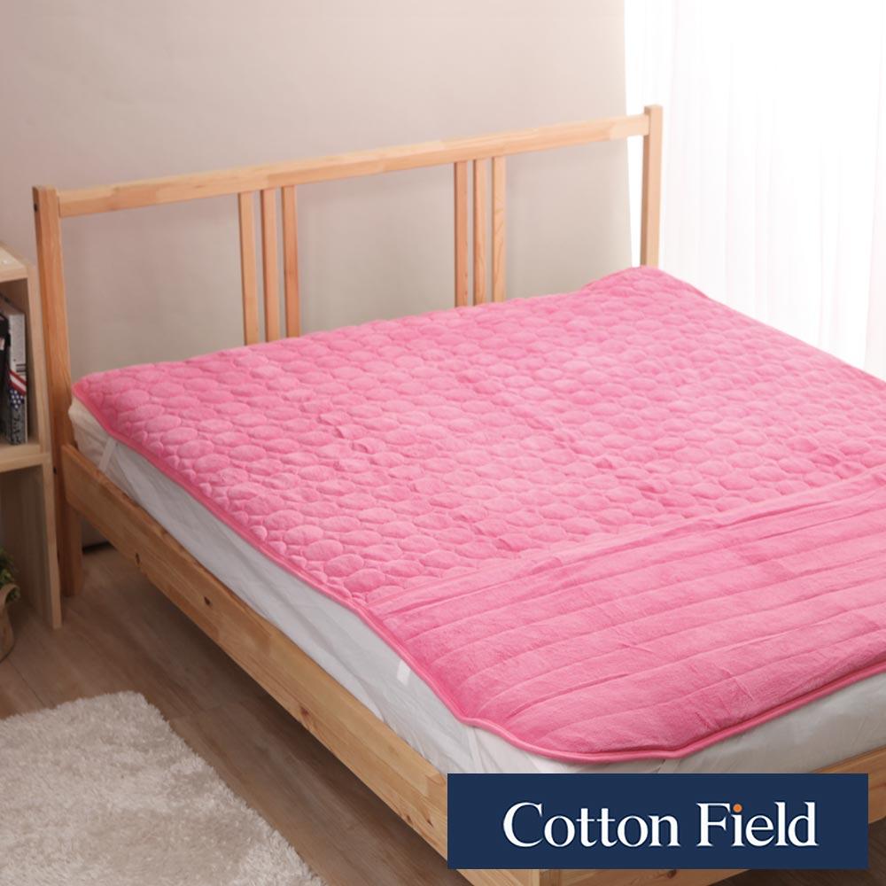 棉花田 暖心 超細纖維暖腳單人保暖墊-蜜粉色