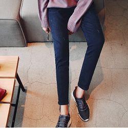 正韓 顯瘦好穿牛仔藍長褲