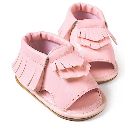 Baby unicorn 粉紅流蘇露趾嬰兒涼鞋