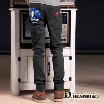Dreamming 迷彩 骷顱伸縮休閒長褲~共二色