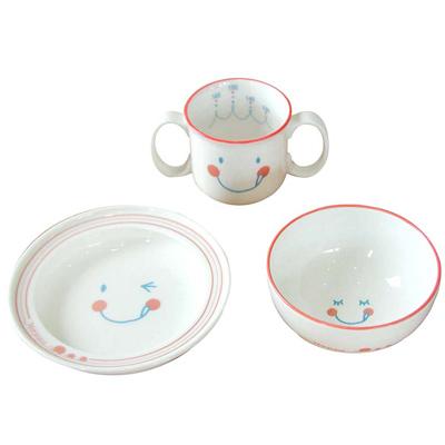 【Hoppetta】微笑強化陶瓷3件餐具組