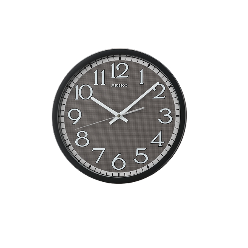 SEIKO 日本精工 滑動式秒針 靜音掛鐘(QXA711K)-黑/31cm