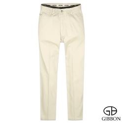 GIBBON 彈性幾何織紋口袋休閒褲‧米色31~40
