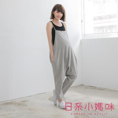 日系小媽咪孕婦裝-韓製孕婦褲-可調式細肩連身飛鼠褲