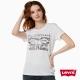 女款短袖LOGO-T恤-雙馬-米白做舊-Levis