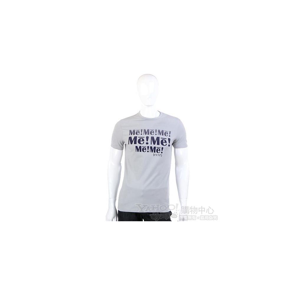 EXTE 灰色字母塗鴉T恤