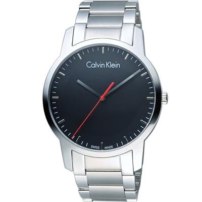 CK Calvin Klein 城市經典簡約石英腕錶-黑/43mm