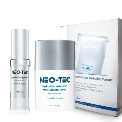NEO-TEC妮傲絲翠 天然玻尿酸乾荒救援組(高效保濕凝露+鎖水保濕精華乳+水嫩修護面膜)