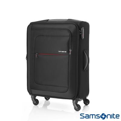 Samsonite新秀麗 28吋Populite四輪TSA超輕量可擴充布面行李箱(黑)
