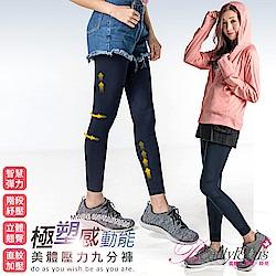 塑褲 極塑感動能美體壓力九分褲(深藍) BeautyFocus