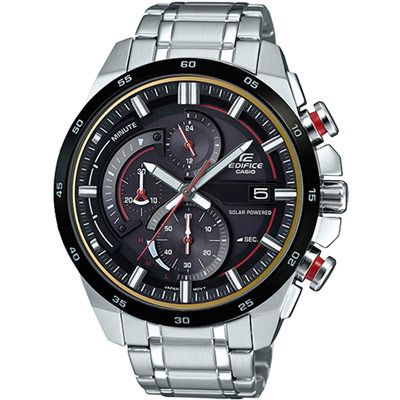 CASIO EDIFICE急速賽車計時腕錶(EQS-600DB-1A4)-49mm