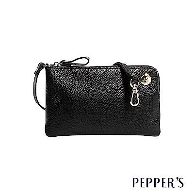 PEPPER`S Doris 牛皮手機隨身包 - 煙燻黑