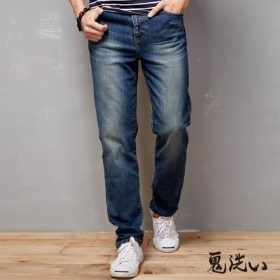鬼洗 BLUE WAY 鬼洗機能系-波浪袋花中腰直筒褲-淺藍刷白