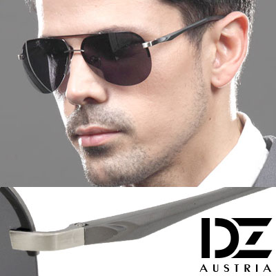 DZ-歐紳型潮-抗UV-偏光-太陽眼鏡墨鏡-槍框灰