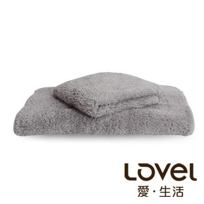 LOVEL 7倍強效吸水抗菌超細纖維毛巾/方巾2件組(共9色)
