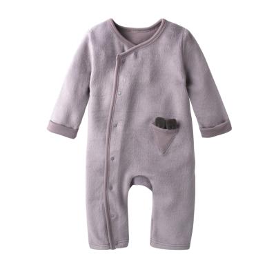 baby童衣-造型側開釦長袖爬服加圍兜