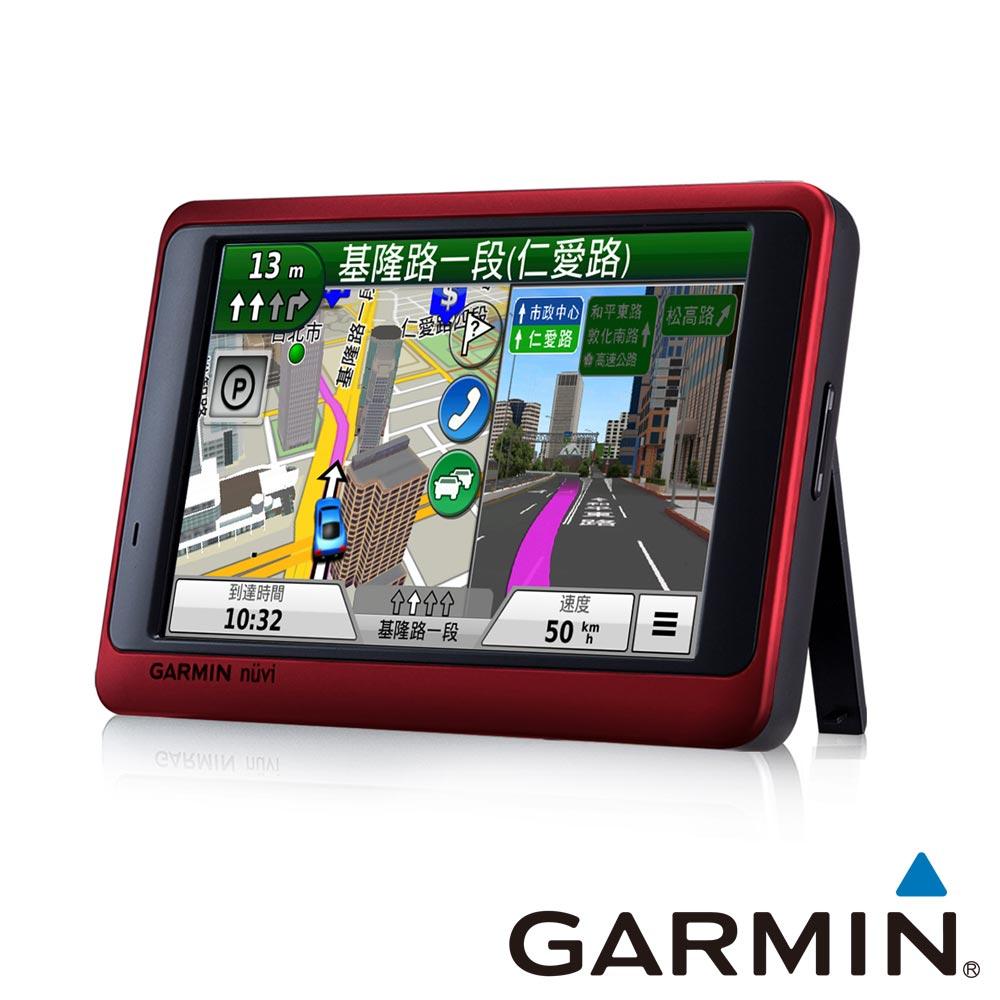 GARMIN nuvi3590 5吋高畫質玩家生活聲控藍芽GPS導航機 (金屬紅)