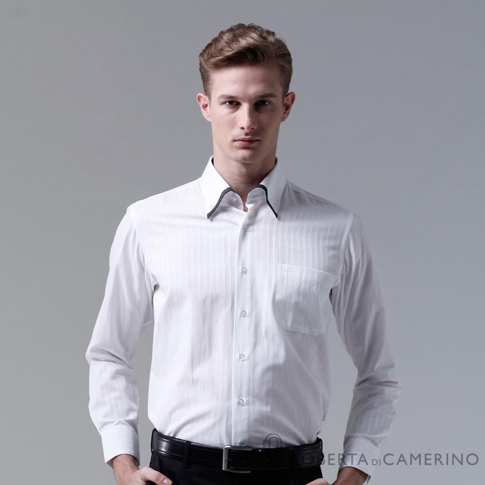 ROBERTA諾貝達 台灣製 合身版 休閒百搭長袖襯衫 白色